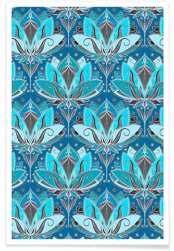 Art Deco Taille Lotus - patroon poster