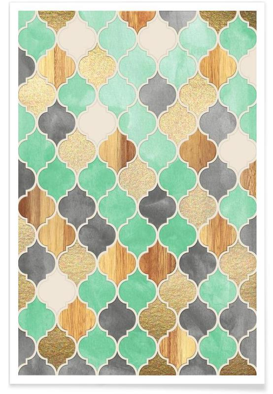 Patterns, Textured Moroccan Pattern Poster
