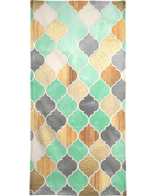 Patterns, Textured Moroccan Pattern Beach Towel