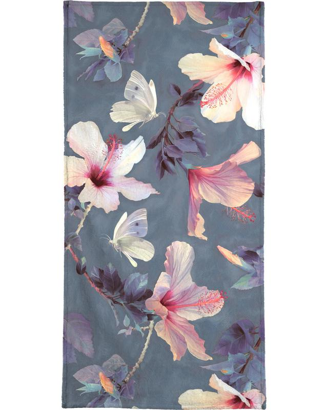 Butterflies & Hibiscus Flowers -Handtuch