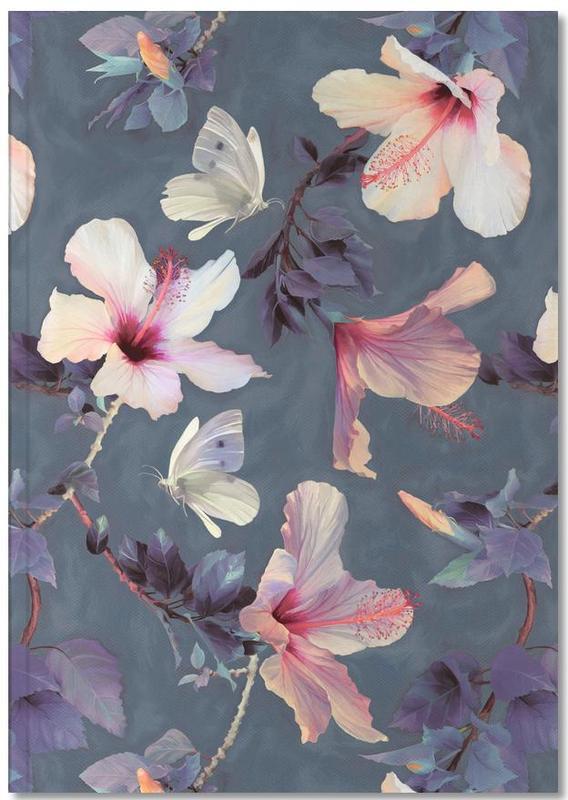 , Butterflies & Hibiscus Flowers Notebook