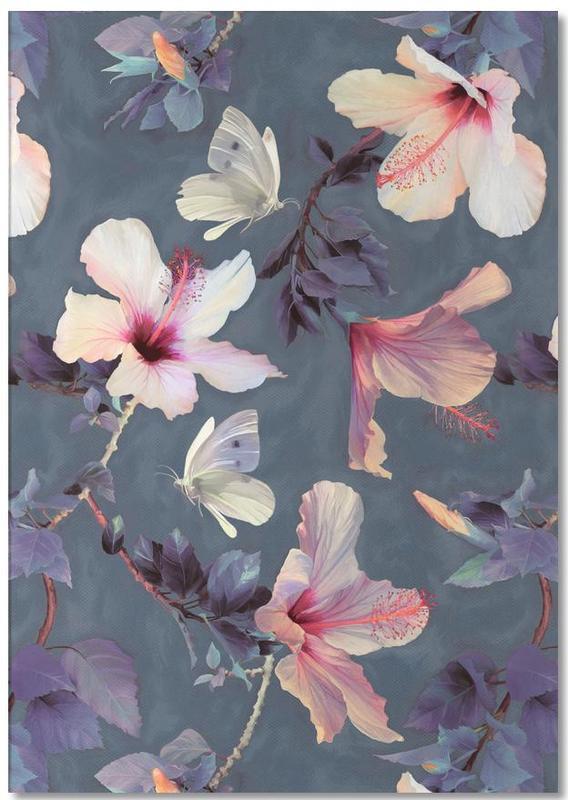 Butterflies & Hibiscus Flowers Notepad
