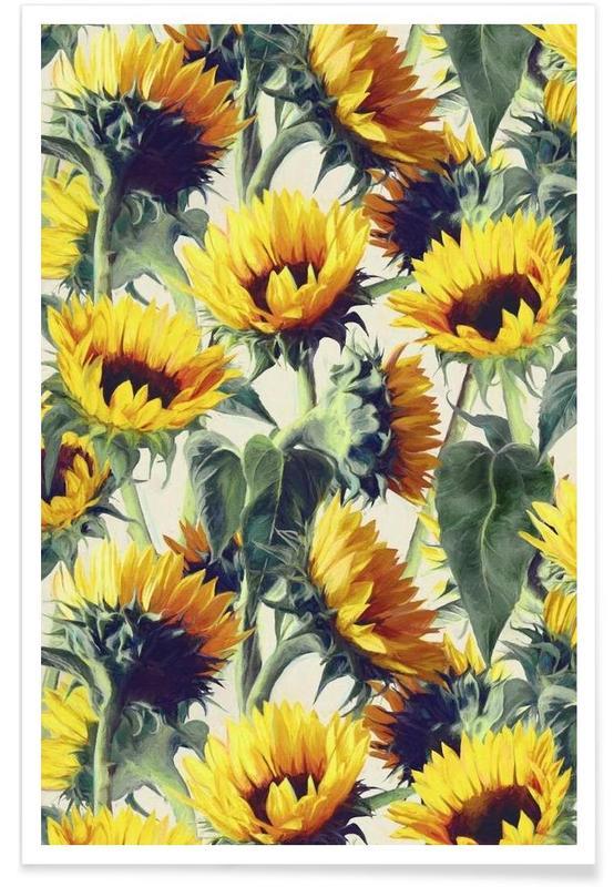 Zonnebloemen, Zonnebloemen - patroon poster