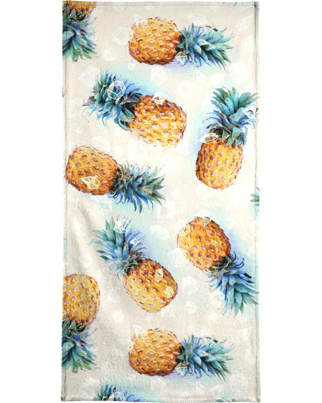 Pineapples + Crystals Beach Towel