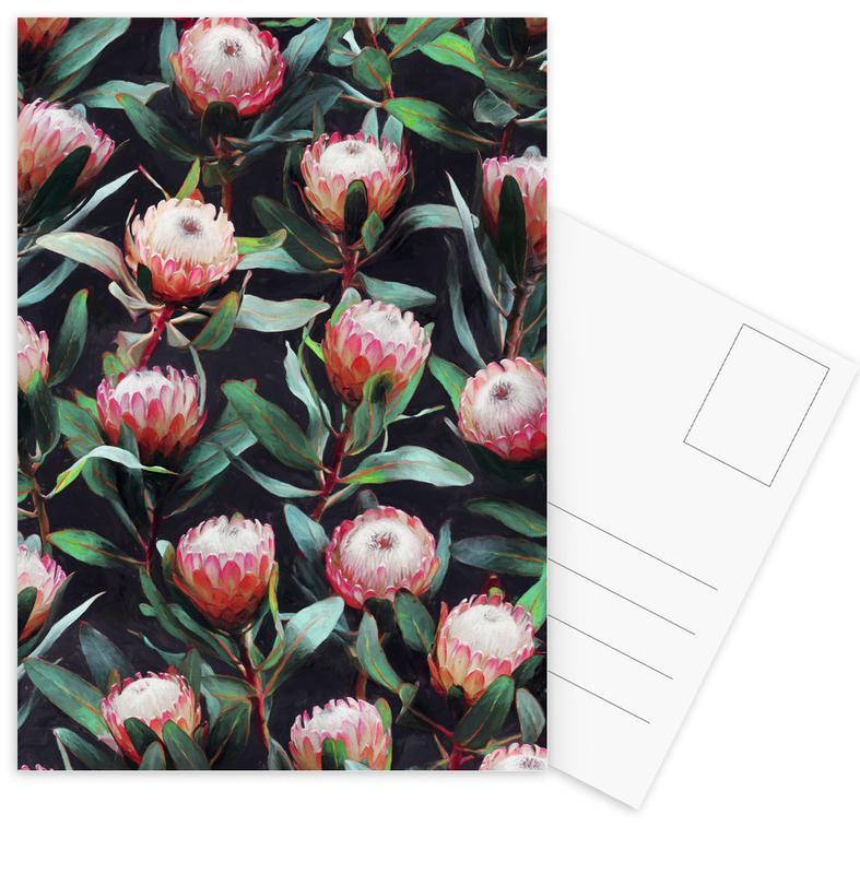 , Evening Proteas in Color Postcard Set