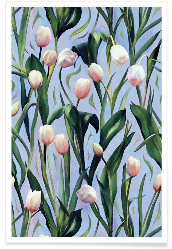 Motif tulipe affiche