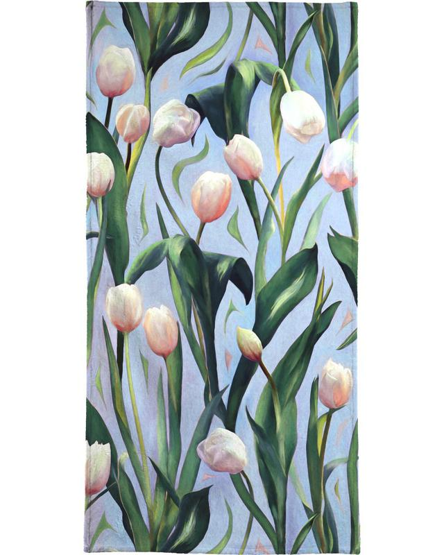 Waiting On The Blooming – Tulip Pattern -Handtuch
