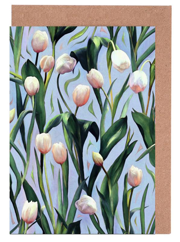 Tulips, Waiting On The Blooming – Tulip Pattern Greeting Card Set