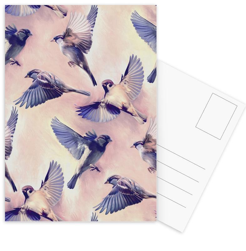 , Sparrow Flight Postcard Set