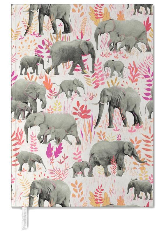 Éléphants, Sweet Elephants in Pink Orange agenda
