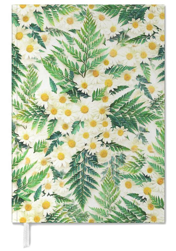 Textured Vintage Daisy And Fern Personal Planner