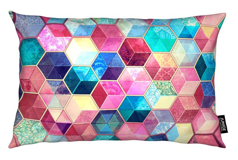 Patterns, Topaz And Rubey Crystal Honeycomb Cubes