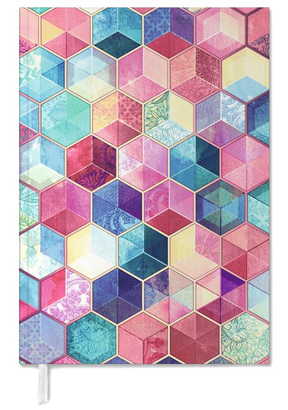 Topaz And Rubey Crystal Honeycomb Cubes Personal Planner