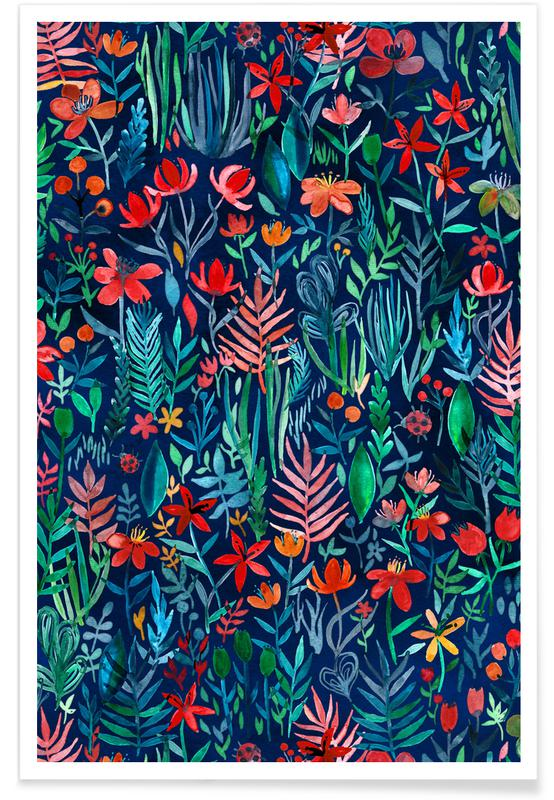 , Tropical Ink Pattern Poster