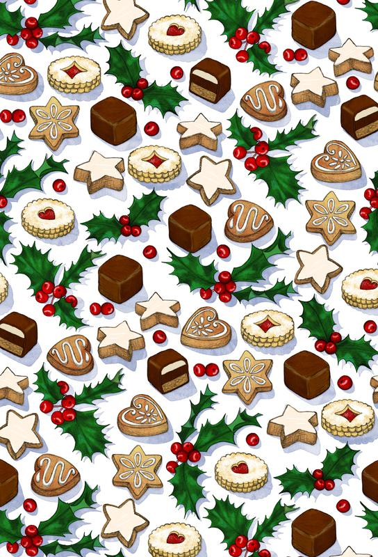 Christmas Treats And Cookies Aluminium Print