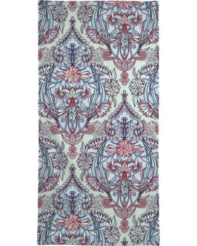 Patterns, Botanical Moroccan Doodle Bath Towel