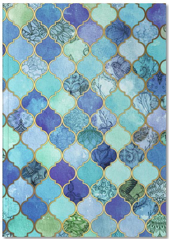 Cobalt Moroccan Tile Pattern Notebook