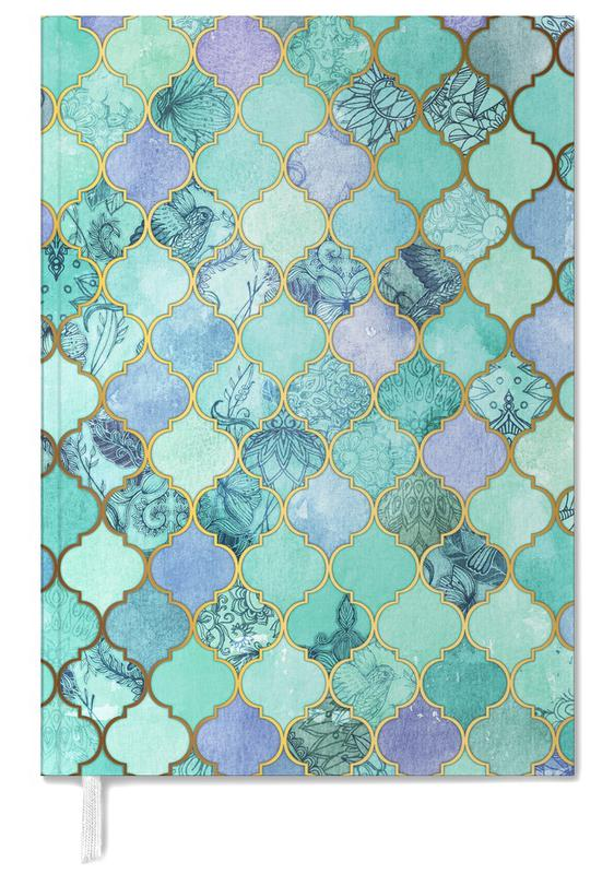 Mint Moroccan Tile Pattern Personal Planner