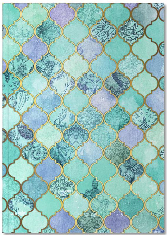 Mint Moroccan Tile Pattern Notebook