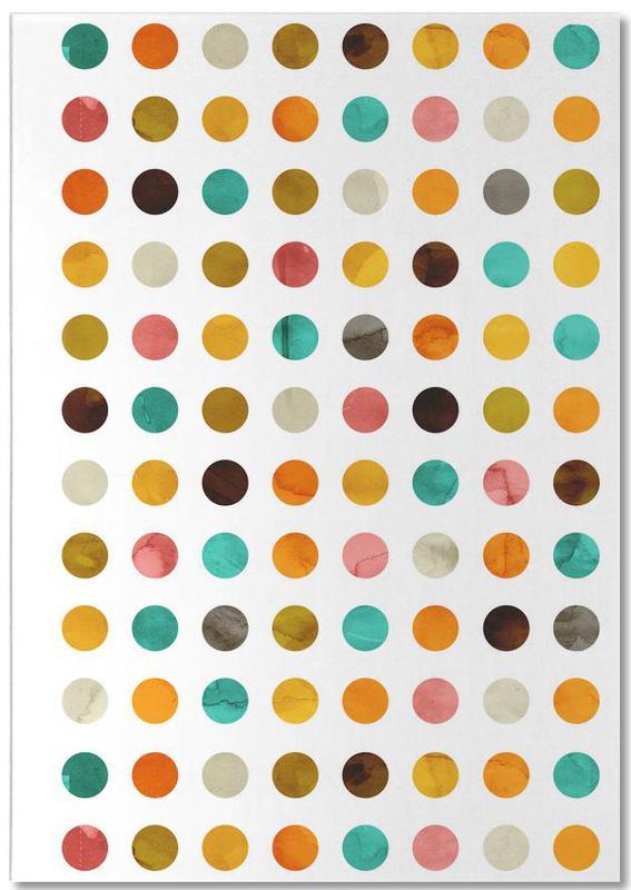 Autumnal Polka Dot Notepad