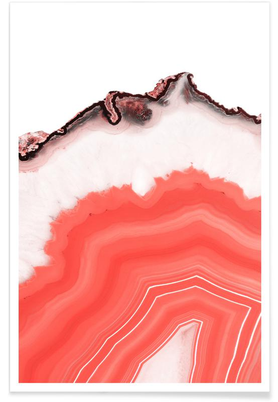Living Coral Agate Poster