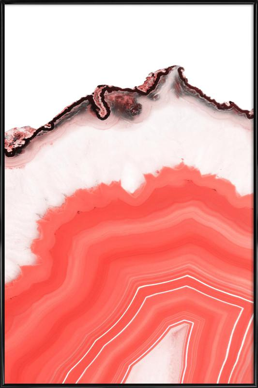 Living Coral Agate -Bild mit Kunststoffrahmen