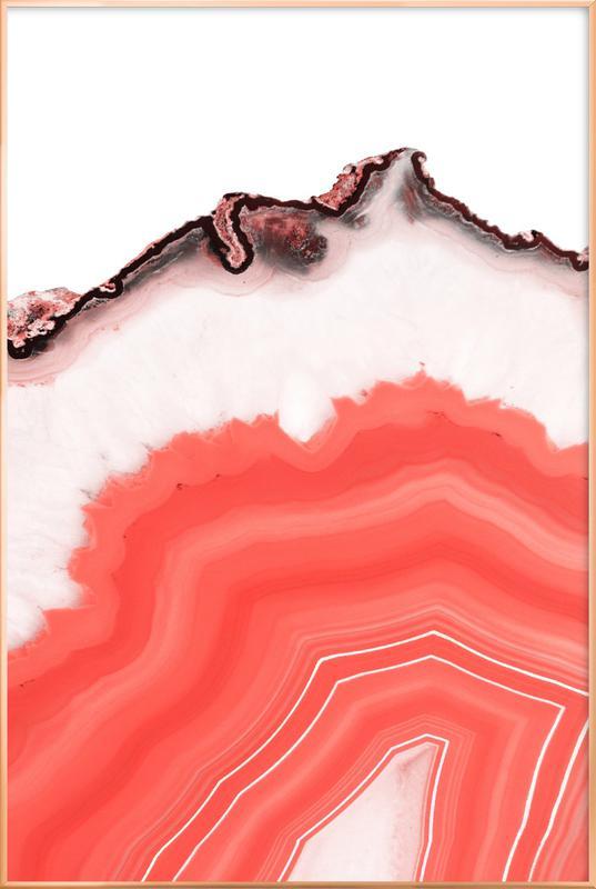 Living Coral Agate poster in aluminium lijst