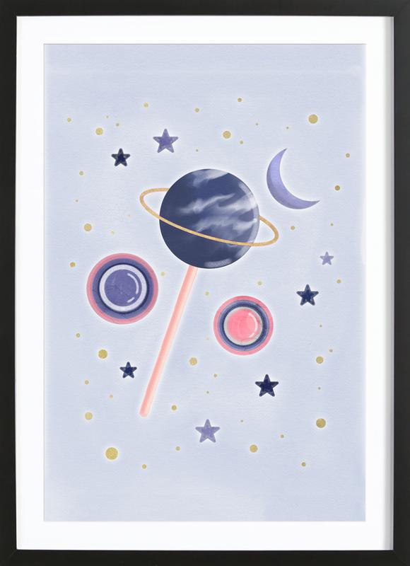 Lollipop Planet Framed Print
