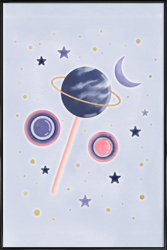 Lollipop Planet Framed Poster
