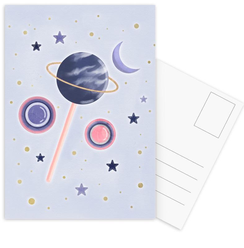 Lollipop Planet Postcard Set