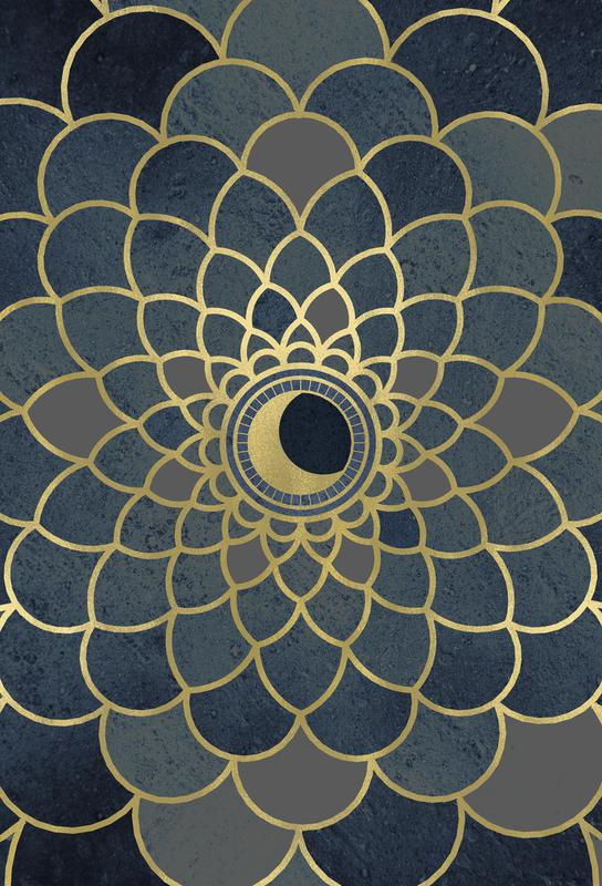 Mystic Moon -Acrylglasbild