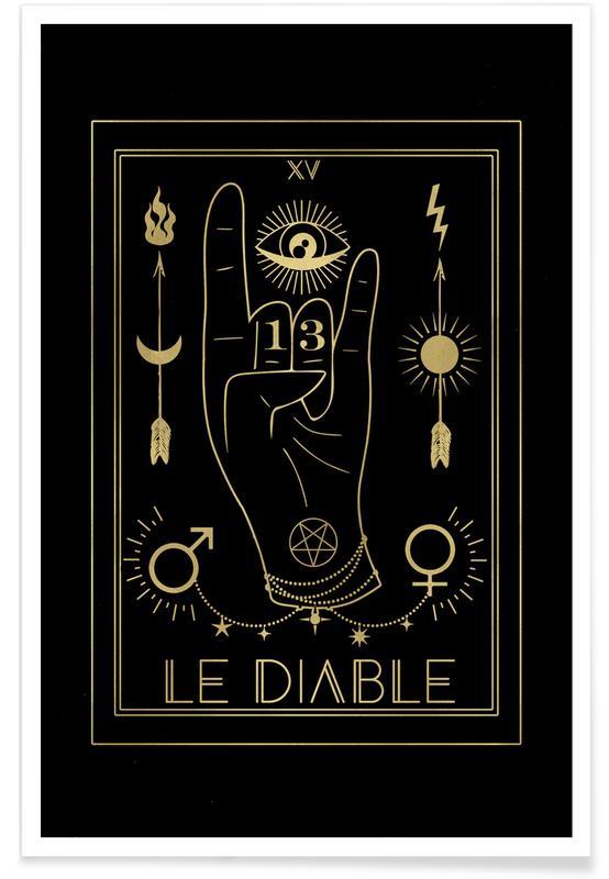 Alfabet en letters, Le Diable poster