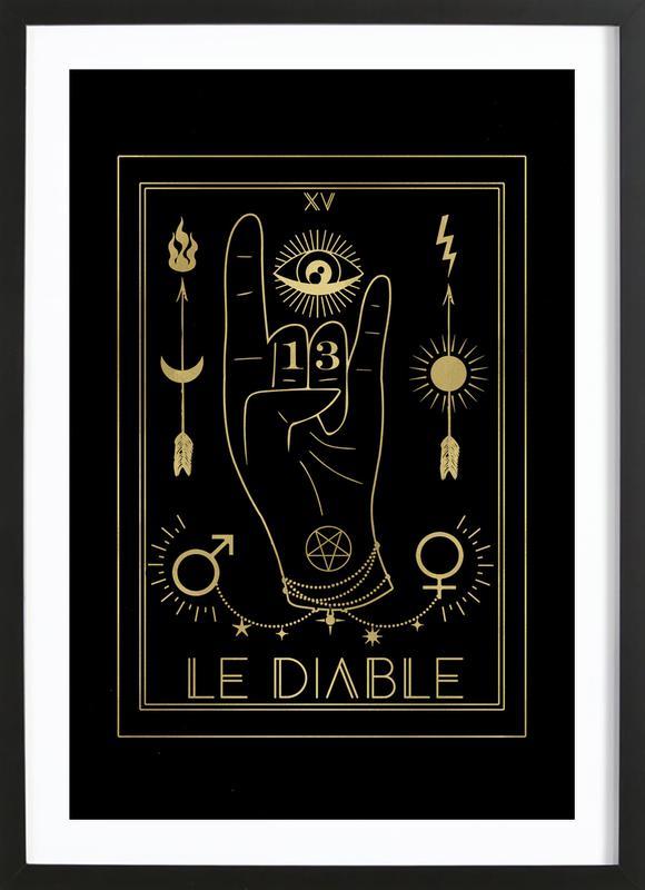 Le Diable -Bild mit Holzrahmen
