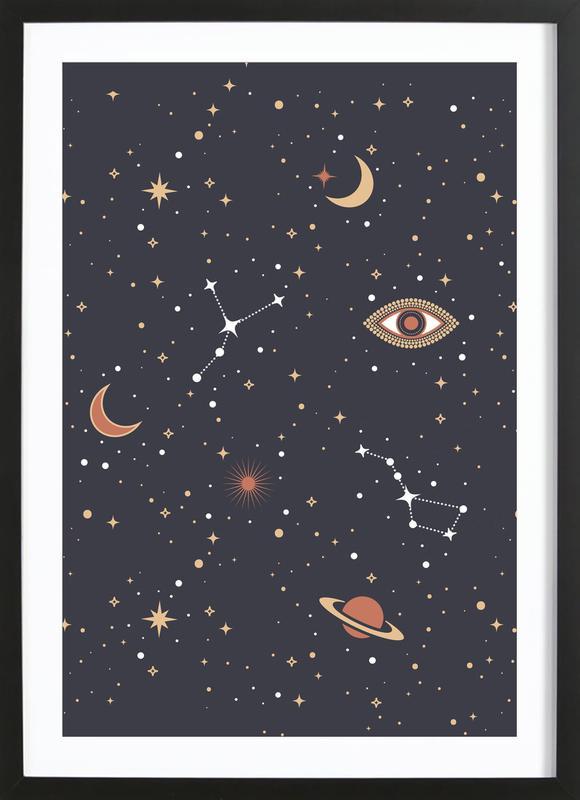 Mystical Galaxy ingelijste print