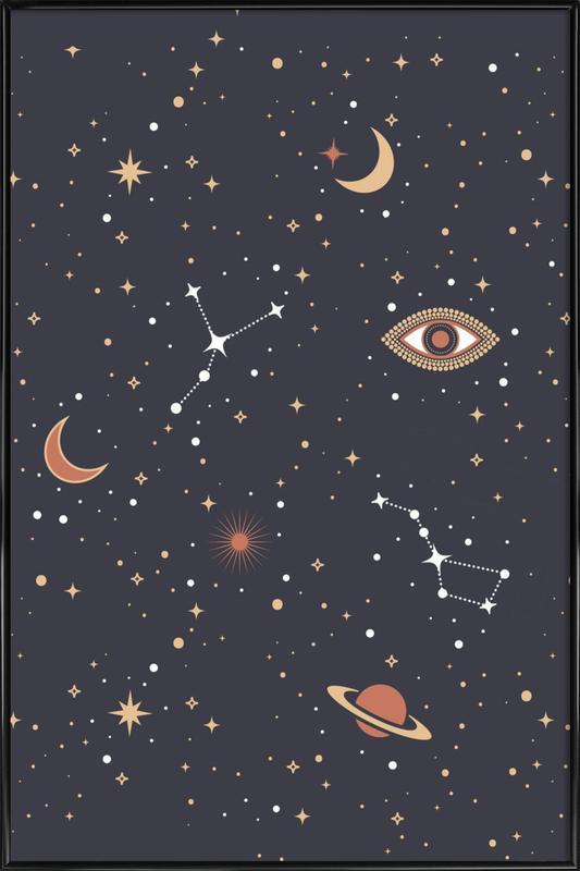 Mystical Galaxy -Bild mit Kunststoffrahmen