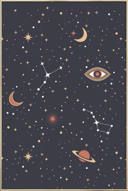 Mystical Galaxy -Poster im Alurahmen