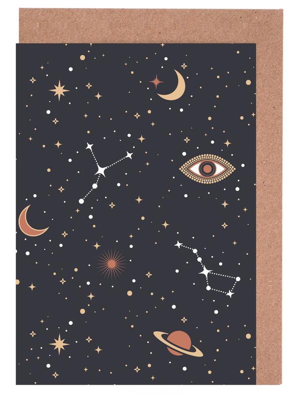 Mystical Galaxy -Grußkarten-Set
