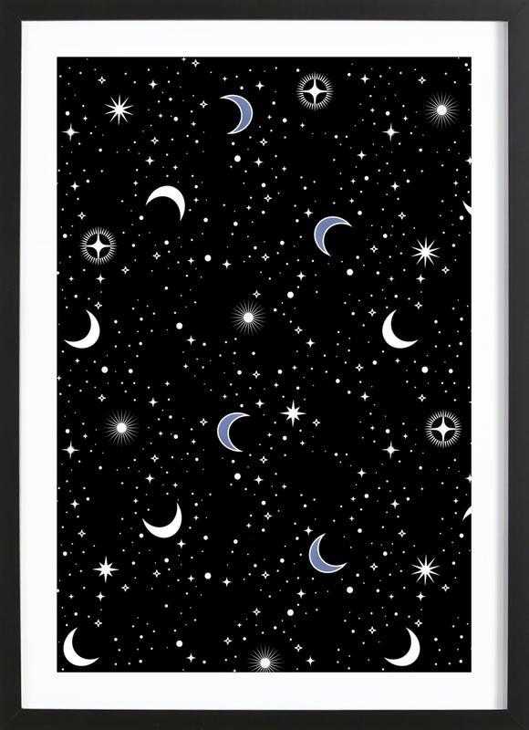 Stars Holiday -Bild mit Holzrahmen
