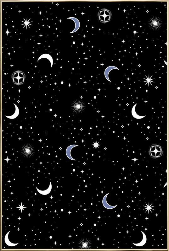 Stars Holiday poster in aluminium lijst