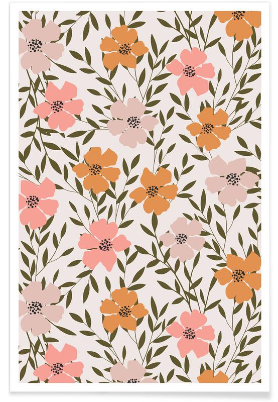 70's Floral poster
