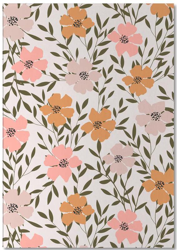 Muster, 70's Floral -Notizblock