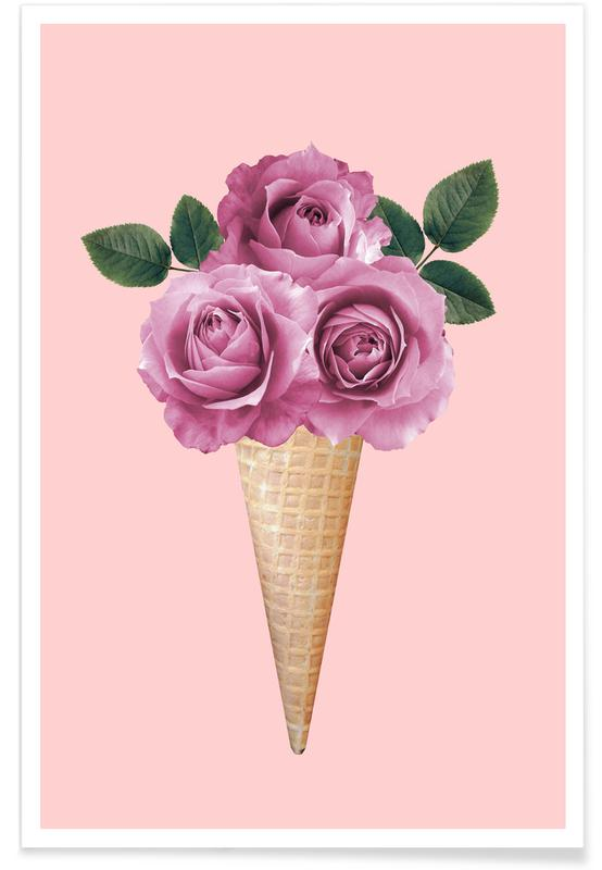 Floral Ice Cream -Poster