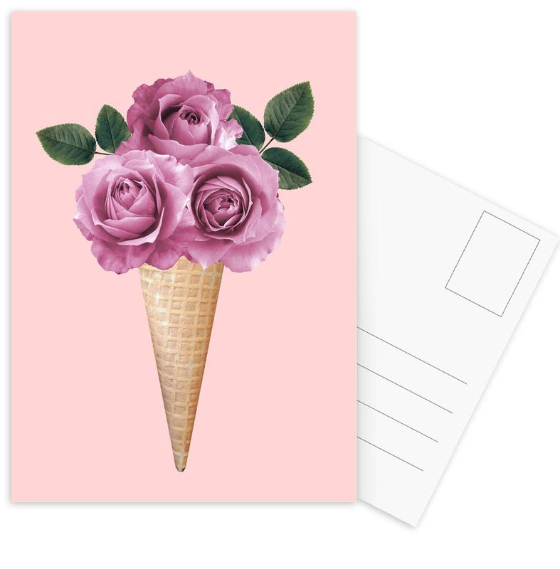 Floral Ice Cream -Postkartenset
