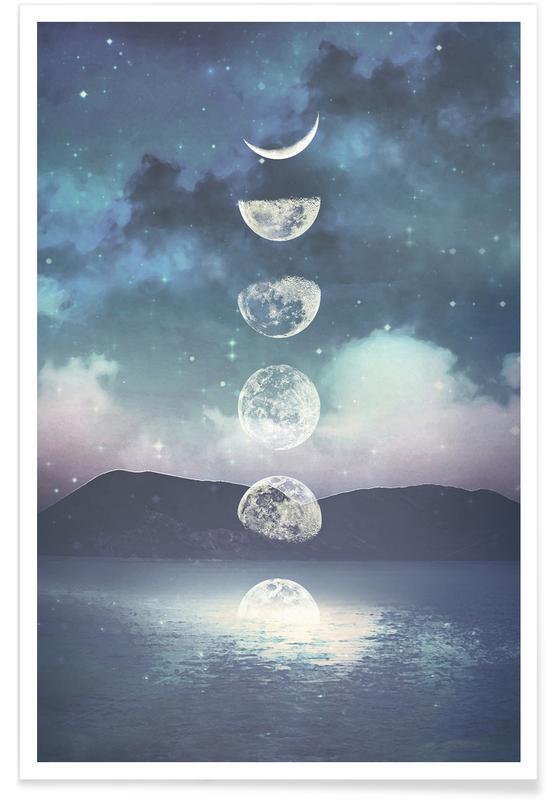 Moon, Dreamy, Moon Rising Poster
