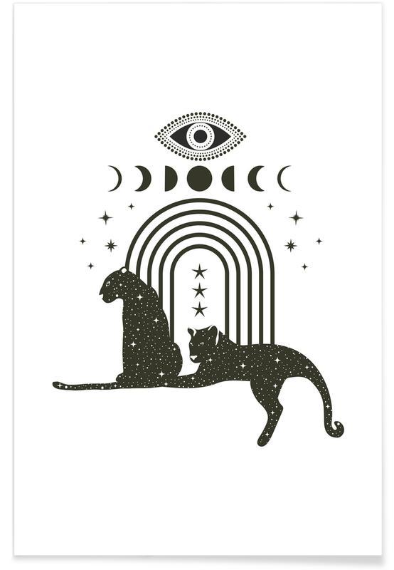 Zwart en wit, Moon Guardians poster