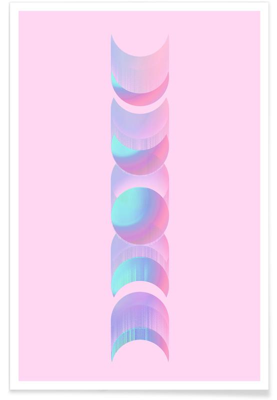 Fluo Moon poster