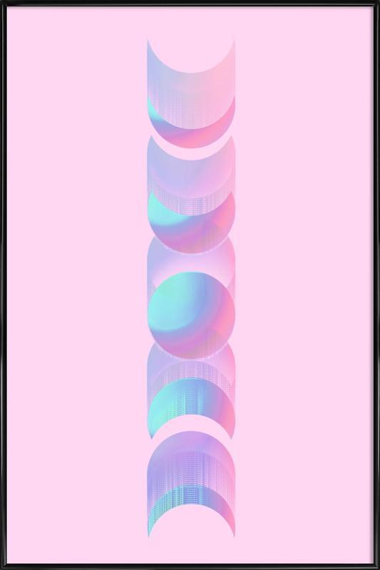 Fluo Moon Framed Poster