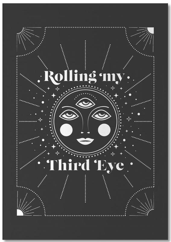 Schwarz & Weiß, Rolling Third Eye -Notizblock