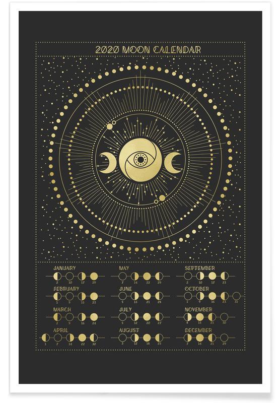 Maan, Moon Calendar 2020 poster