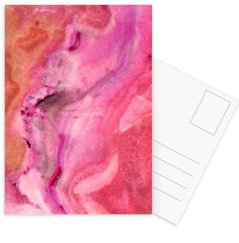 Bold Pink Marble cartes postales